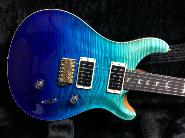 PRS Paul Reed Smith Custom 24 Blue Fade Pattern Regular with 10 Top