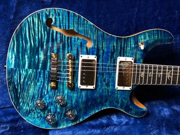 PRS Wood Library 594 Semi Hollow River Blue with Rosewood Neck