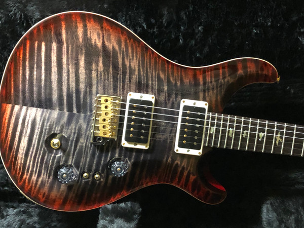 PRS Paul Reed Smith 35th Anniversary CU24  Charcoal Cherry Burst 10 Top