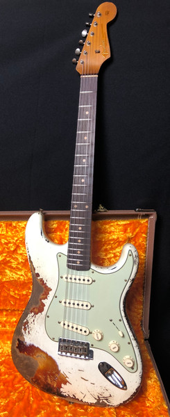 Fender Custom Shop NAMM 20 Ltd 1960/63 Super Relic 2020 Aged Olympic White Over3 Tone Sunburst