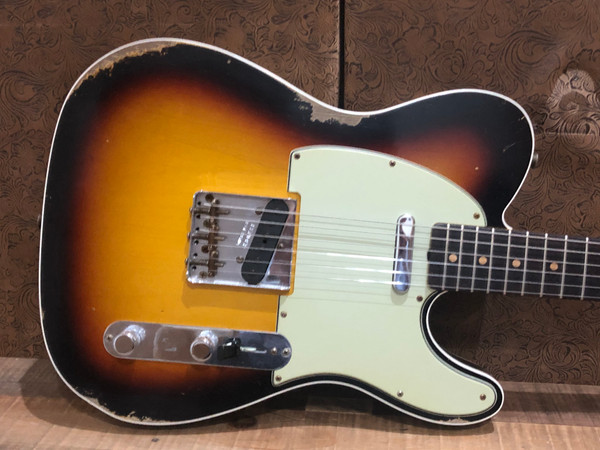 Fender Custom Shop 62 Relic Telecaster 3 Tone Sunburst