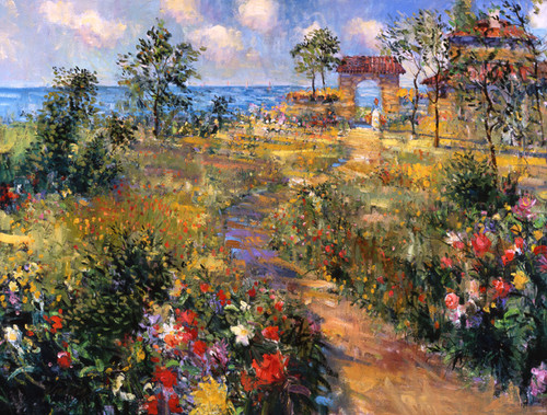Flowers To The Sea  Giclee Print