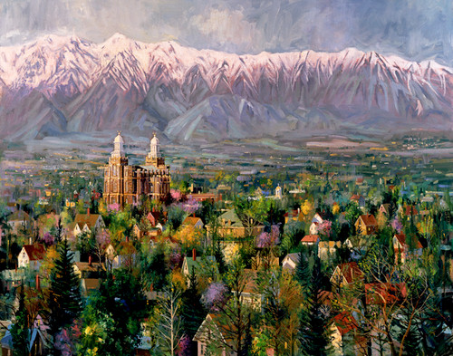 Cache Valley Spring Giclee Print