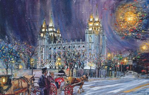 Christmas on Temple Square Giclee Print