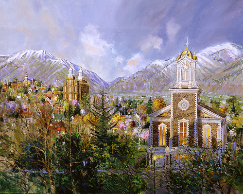 Cache Valley Icons  Giclee Print