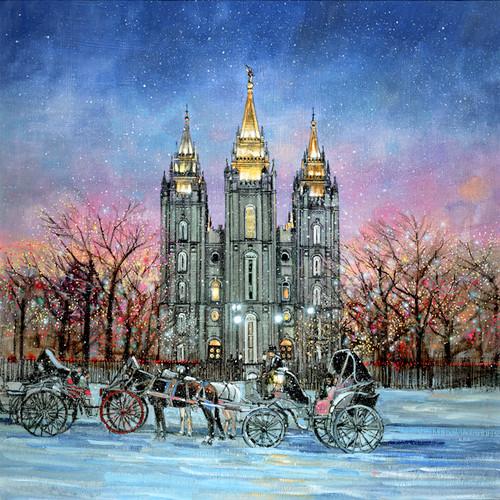 Winter Evening   Giclee Print