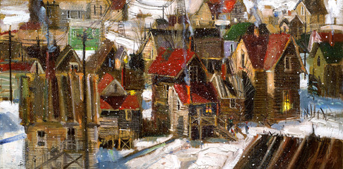 Old Park City   Giclee Print