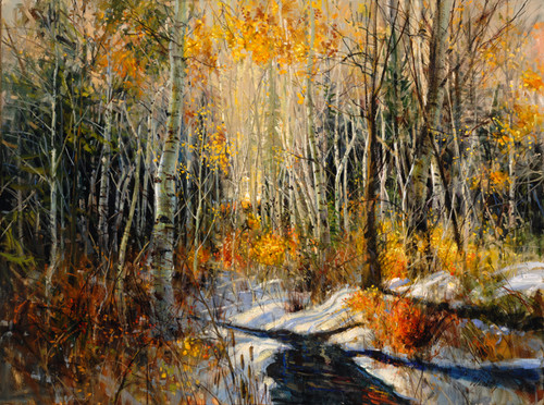 Winter Brook (Horizontal)   Giclee Print