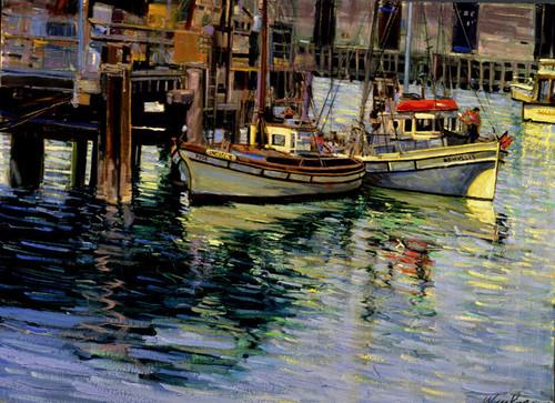 Sunlit Boats   Giclee Print