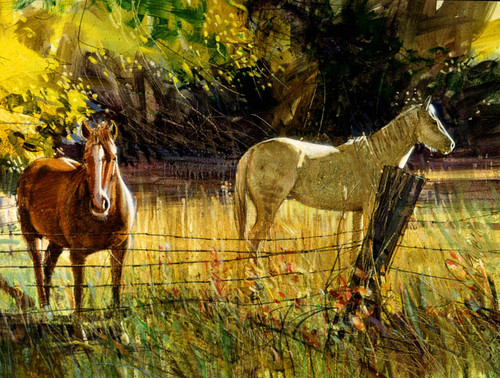 Autumn Pasture Giclee Print