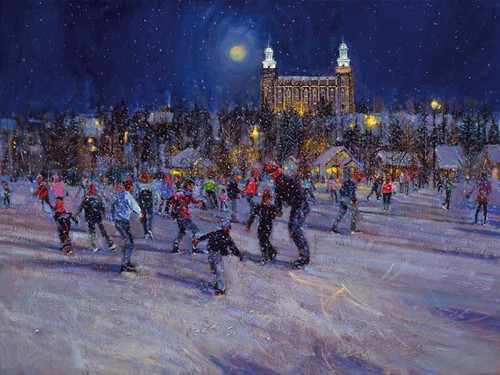 Skating in the Park Giclee Print