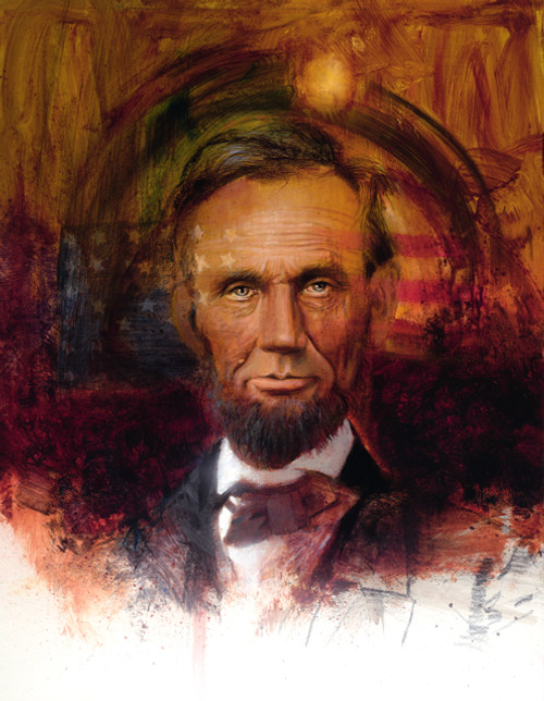 Lincoln Portrait   Giclee Print