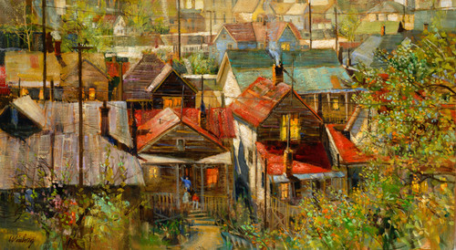 Old Park City Summer Giclee Print