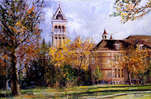 Old Main Autumn Giclee Print