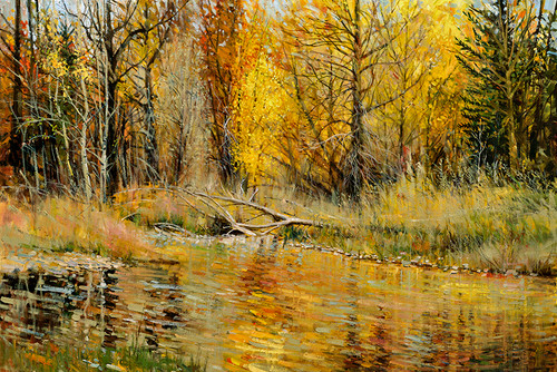 Along the Gros Ventre Giclee Print