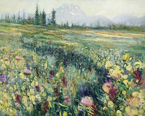 Mount Moran Meadow   Giclee Print