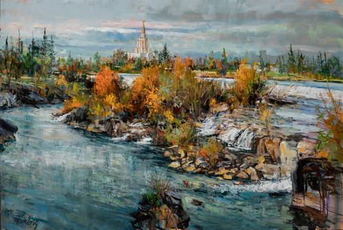 Idaho Falls Temple Autumn