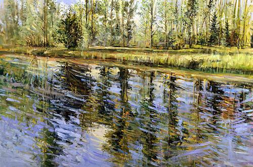 Summer Pond   Giclee Print