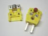Miniature Mini K-Type Thermocouple Connector Strain Relieve Set M/F