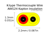 Cross section diagram of K-type thermocouple wire with Kapton insulation