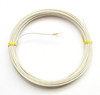 Spool of AWG24 K-type thermocouple wire with fiberglass insulation