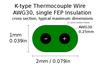 K-Type Thermocouple Probe Temperature Wire Sensor TC-1