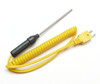 Thermocouple stainless steel insertion probe with spiral cable TC-02sp