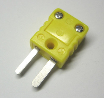 subminiature male k-type thermocouple connector