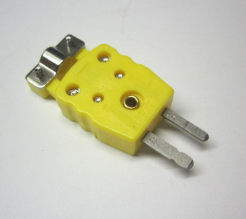 Mini K-Type Thermocouple Sensor Connector Plug Male w Strain Relieve