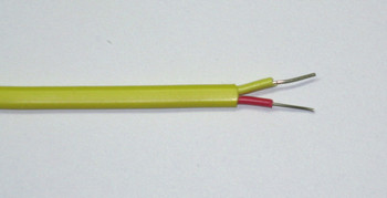 K-type thermocouple wire, yellow, AWG24