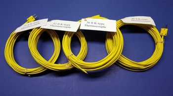 Specialty K-type Thermocouple Set  25ft, 32ft, 36ft and 40 ft