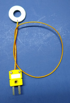 K-Type Thermocouple with Kapton Insulation and Disk 1 ft