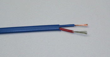 T-type thermocouple wire with 7 strands