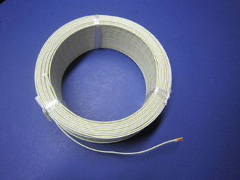 High Temperature K-type Thermocouple Wire AWG 24 Solid w Ceramic Insulation