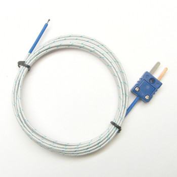 6 ft long T-type thermocouple with fiberglass insulation