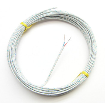 T-type thermocouple wire AWG 24 with fiberglass insulation