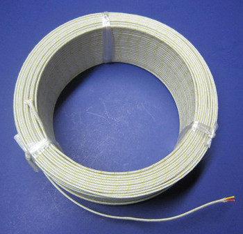 K-type Thermocouple Wire AWG 24 Stranded w Fiberglass Insulation
