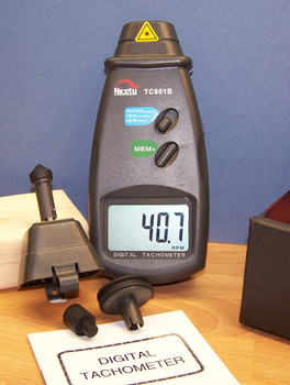 Digital Laser Photo Tachometer Non & Contact RPM Measurement TC801B