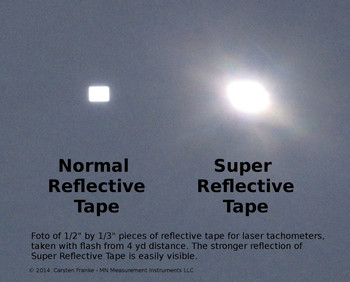 Super Reflective Tape for Laser Photo Tachometer Tach - 2 Strips