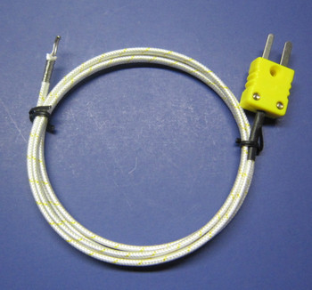 High temperature K-type thermocouple PK-1000 with ceramic fiber insulation
