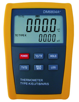 Digital Thermometer DM6804 wit thwo K J E T Type sensors