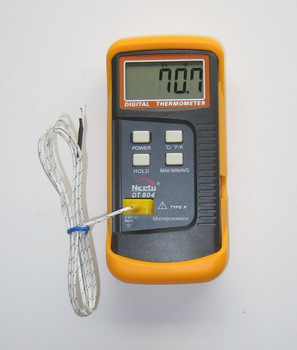 Scientific Digital Thermometer 1 K Type Thermocouple and Stainless Sensor