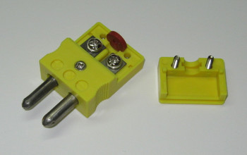 The Standard K-Type thermocouple connector has solid terminal screws