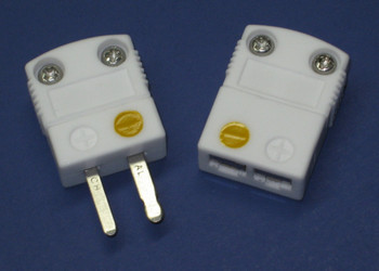 Ceramic Miniature K-type thermocouple connector for high temperature applications