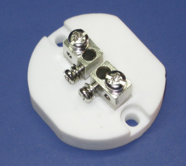Ceramic Connector Plate for High Temperature K-Type Thermocoupkes, 1.75 inch diameter