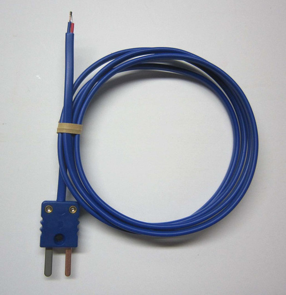 T-type thermocouple with PVC insulation and mini connector - 15 ft