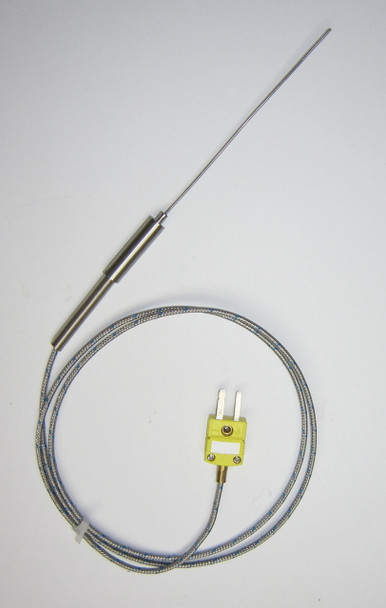 Thin 2 mm Stainless Steel K-type Thermocouple Probe 4 inch