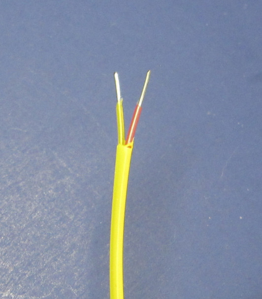 This thermocouple has bare ends for connecting to a PID controller