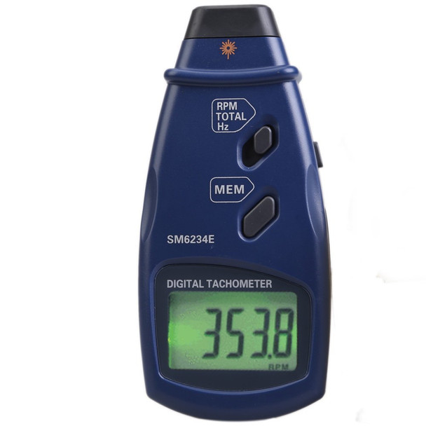 Professional Digital Laser Tachometer Photo Tach for RPM, Total, Hz