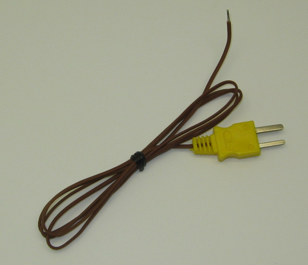 k type thermocouple pk-1 in 100 inch length with high temperature plastic insulation